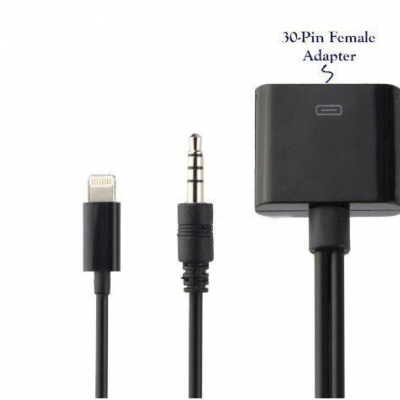8 Pin 30 Pin Audio Cable Adapter For iPhone5 5S 6 Plus iOS7.0/8.0