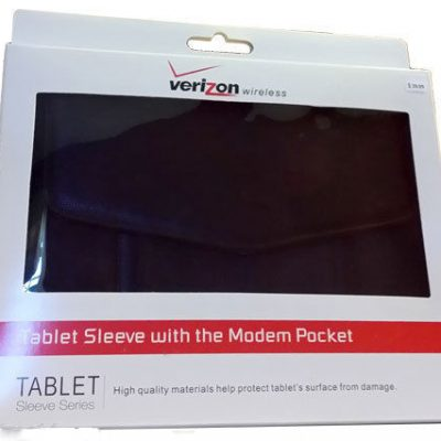 Black Verizon Leather Sleeve Case For Tablet E-Reader iPad Samsung E-book XOOM