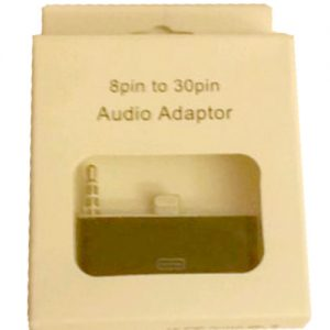 Audio Adapter  8 Pin to 30 Pin Converter Lightning For Apple iPhone 5