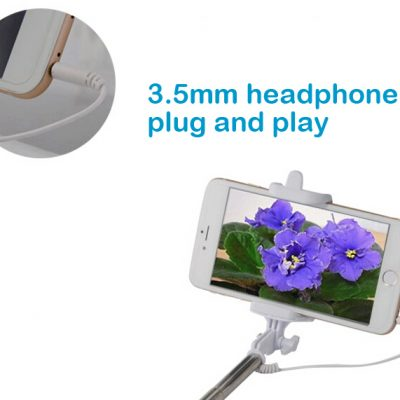 Extendable Selfie Stick Build Wireless Bluetooth For Smart Phone
