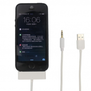 4 in 1 Aux USB Audio Car Charging Cable for iPhone 5/5S/5C 8pin to 30pin 3.5mm audio adapter