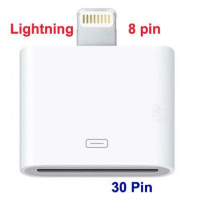 Apple Lighting 8pin to 30Pin For iPad, iPad, iPhone Data Sync Adapter