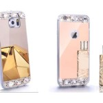 pink Diamond Crystal Mirror Case